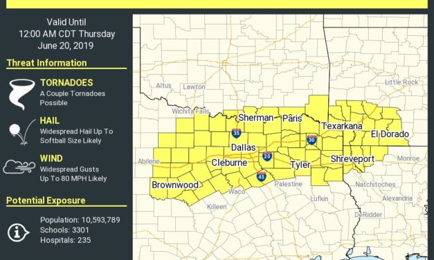 Tornado Watch Until Midnight for Northeast Texas, North Texas, Eastern Big Country