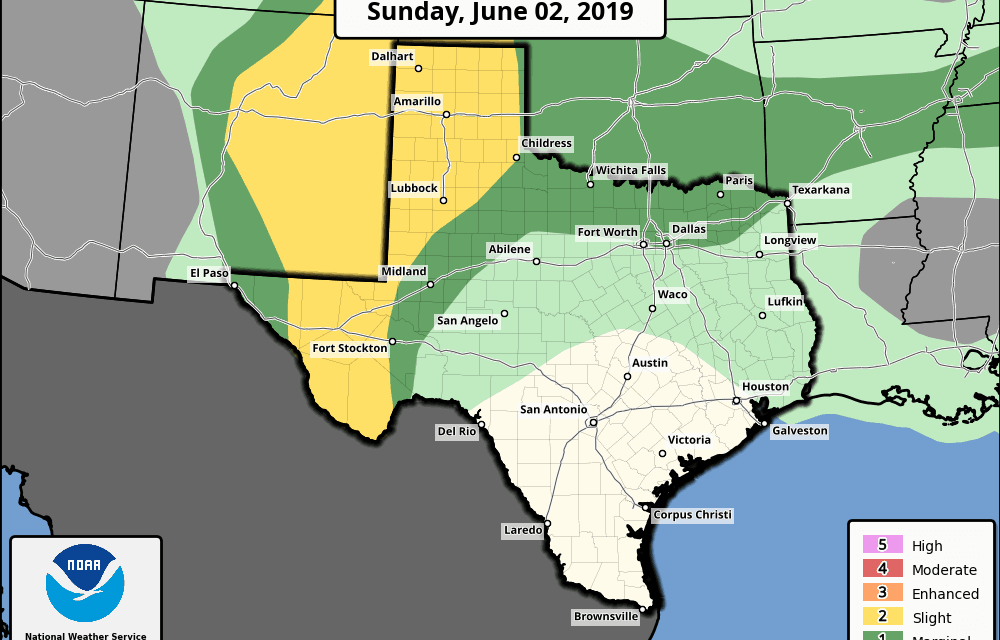Sunday June 2nd Severe Weather Chances