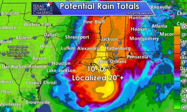 Severe flooding from Barry in Louisiana and Mississippi this weekend; but we get lower humidity in Texas