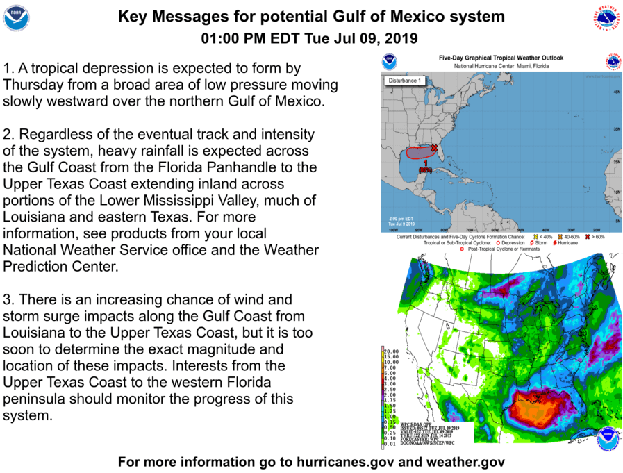 Probable 'Barry' will approach the Gulf Coast by Friday