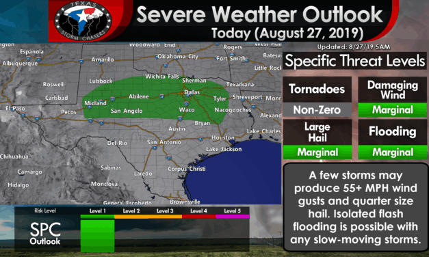 Scattered strong storms this afternoon into tonight from the Permian Basin east into North/Northeast Texas