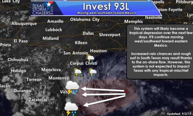 Tropical Disturbance will bring heavy rain to the RGV & S TX; Increasing Heat & Dry across Texas This Week