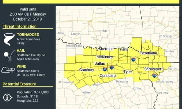 Tornado Watch Until 2 AM for North Texas and Northeast Texas – Remain Weather Aware Tonight!