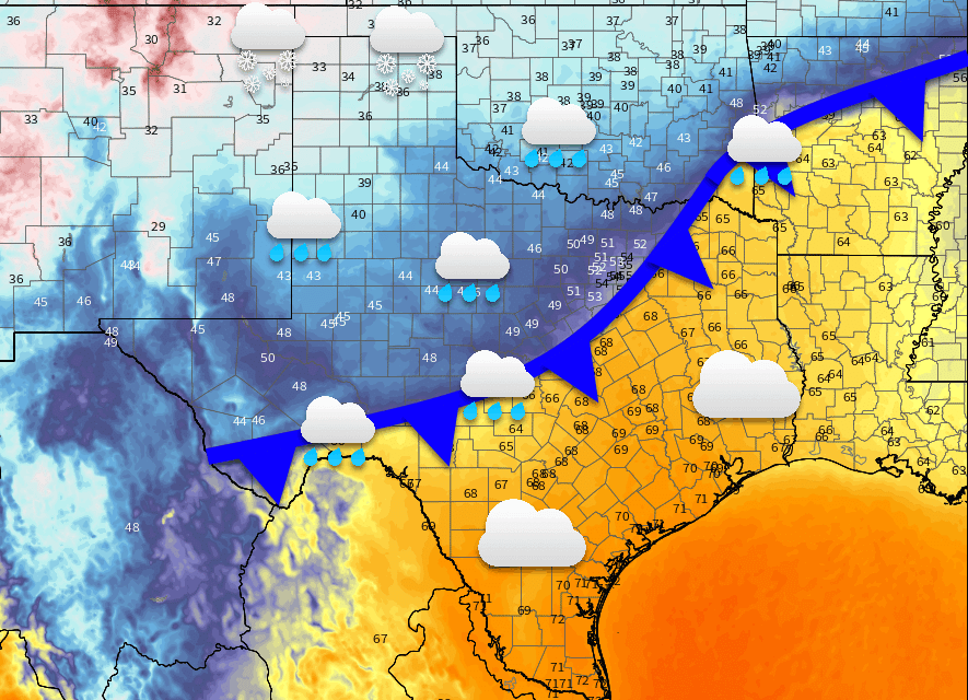 Cold front moves south Thursday Night & Friday with rain and cooler weather; More snow for the Panhandle