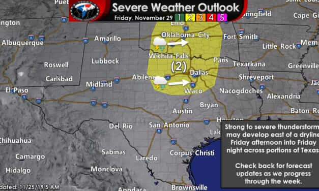 Windy & High Fire Risk Tomorrow; Damp Thanksgiving with Severe Storms Possible Friday