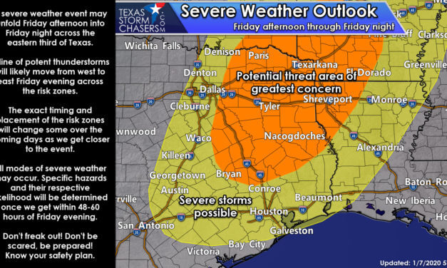 Severe weather still likely Friday afternoon into Friday night in Northeast/East Texas