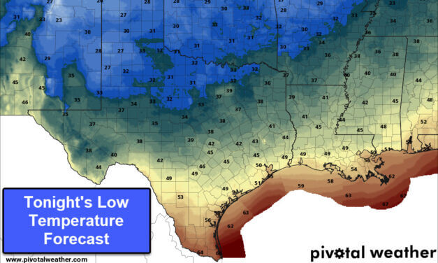 Late-season Arctic Cold Front arriving with frost/freeze for some tonight