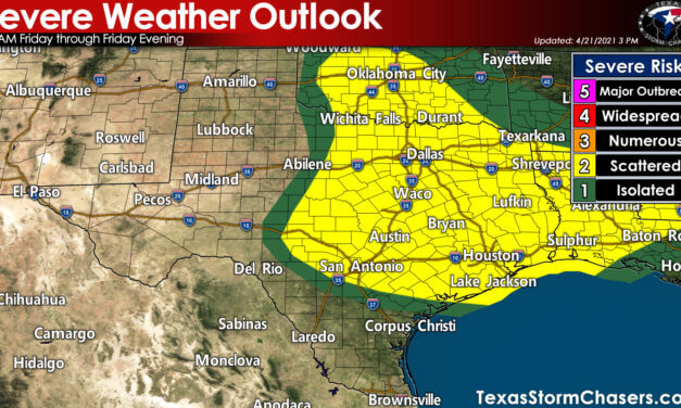Severe thunderstorm chances return to Texas on Friday