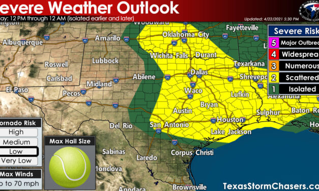 Severe storms tomorrow beginning at lunch-time through the evening