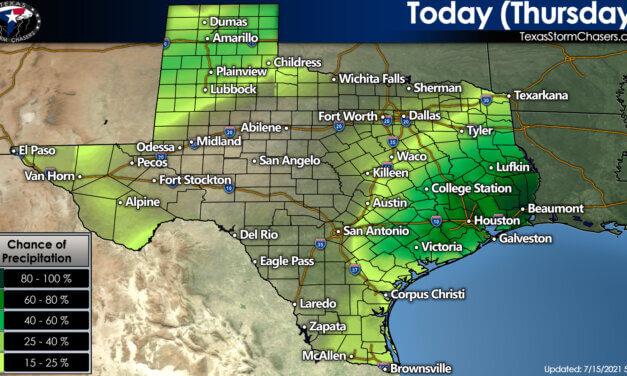 Afternoon tropical downpours forecast daily; isolated severe storms tonight in the Panhandle