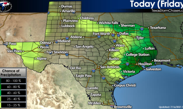 Hit or miss tropical downpours for your Friday + Your Weekend Texas Weather Forecast