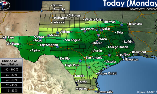 Atypical weather to start August in Texas with Rain and 'not as hot' Temperatures (for some!)