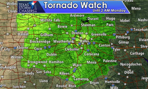 Tornado Watch Issued for all of Texoma & North Texas through 2 AM Monday