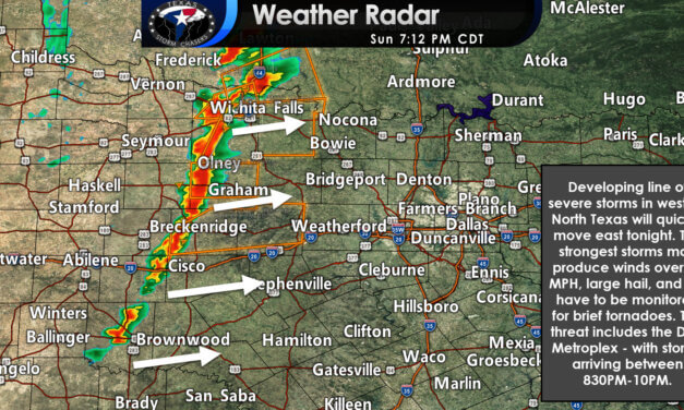 720PM Severe Weather Update; Severe Storms arriving in D/FW 830-10PM